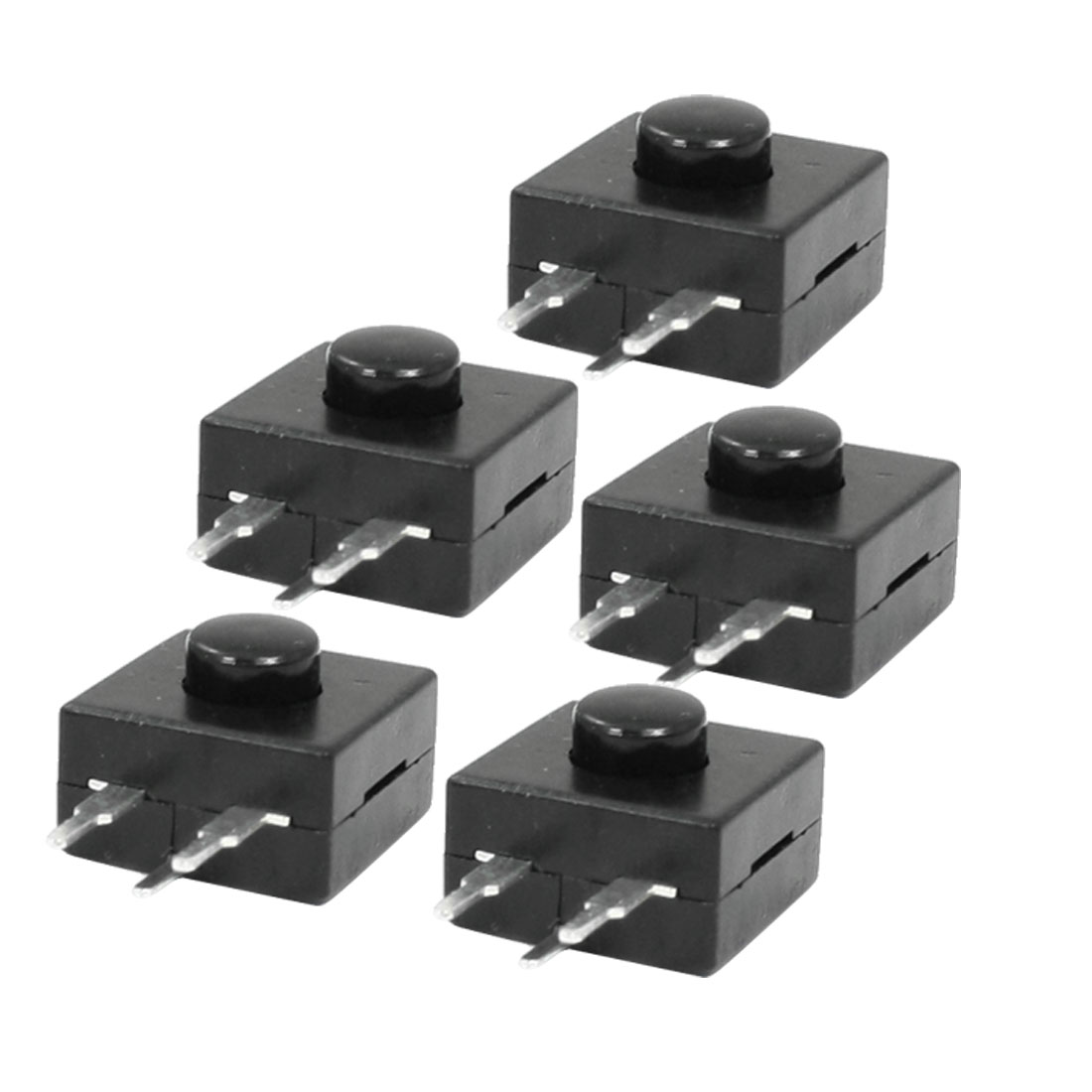 5 Pcs Horizontal 3 Terminals Latching Flashlight Torch Push Button Switch