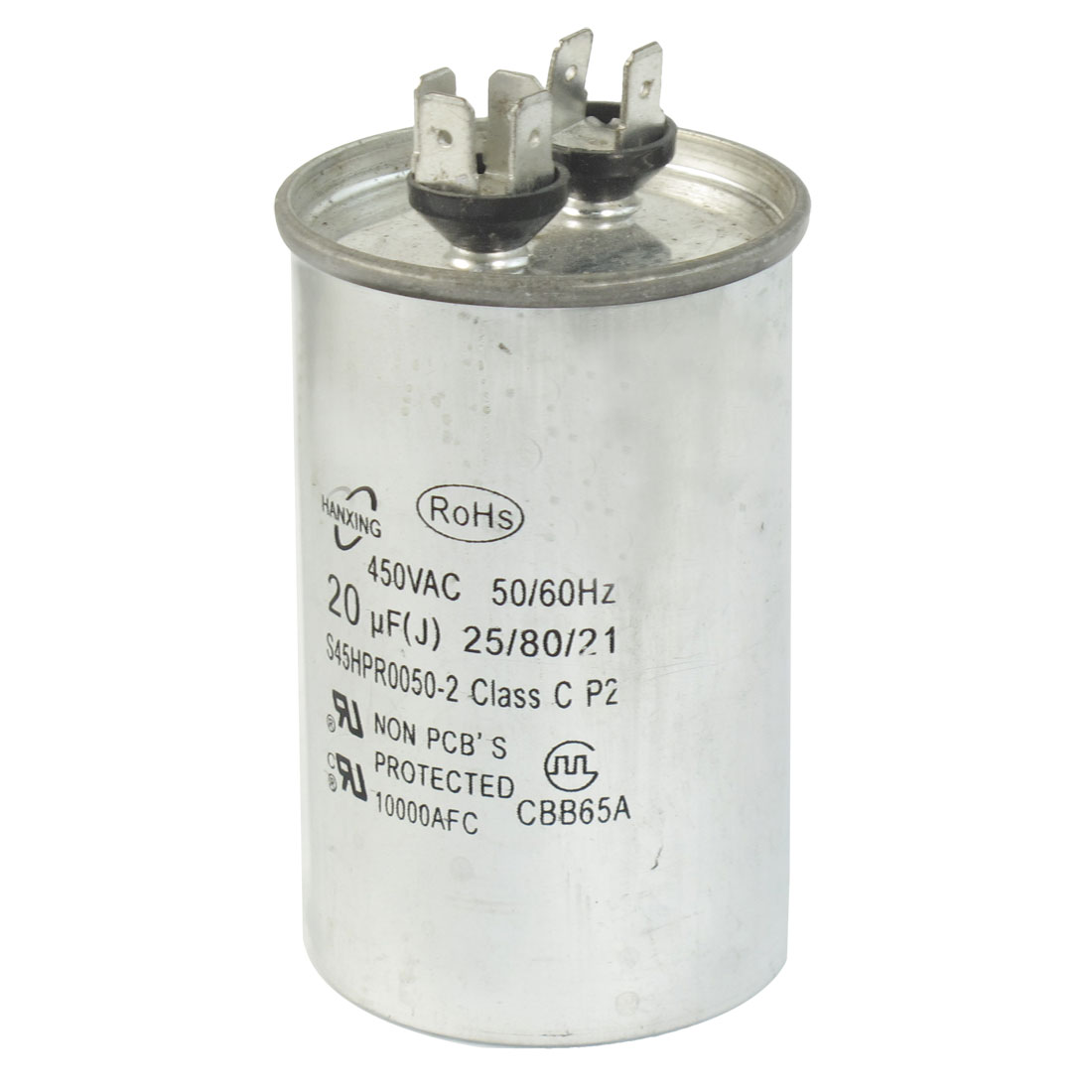 CBB65A AC 450V 20uF Non Polar Air Conditioner Motor Capacitor