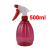 500ml Plastic Trigger Hairdressing Watering Spray Bottle Clear Red