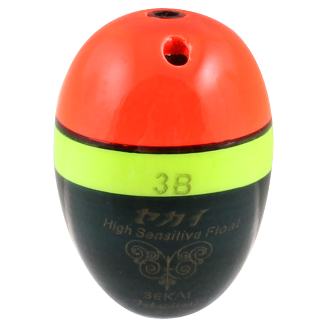 Tri Color Oval Shape Plastic Fishing Floater Bobber