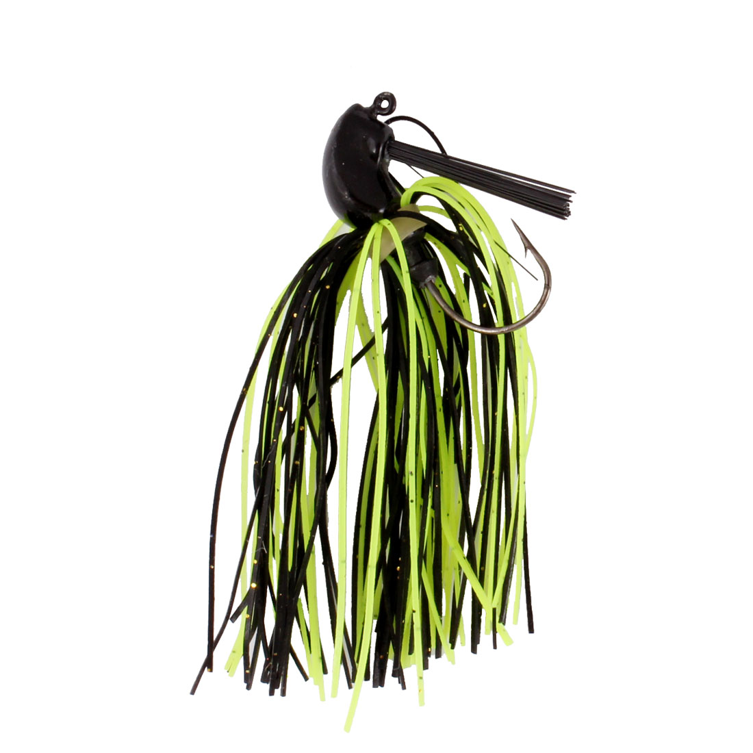 Fishing Tackle Black Green Beard Lure Bait w Fish Hook