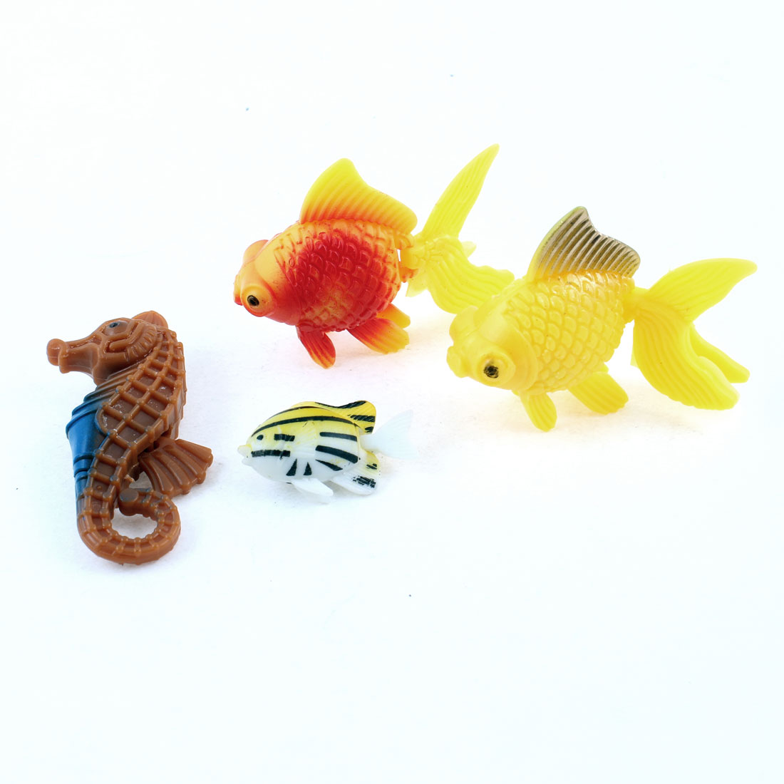 4 Pcs Aquarium Wiggly Tail Simulation Swimming Fishes Yellow Red