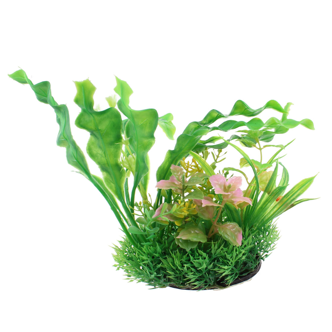 "Aquarium Decoration Green Plastic Underwater Plant Grass 7.1"" Height"