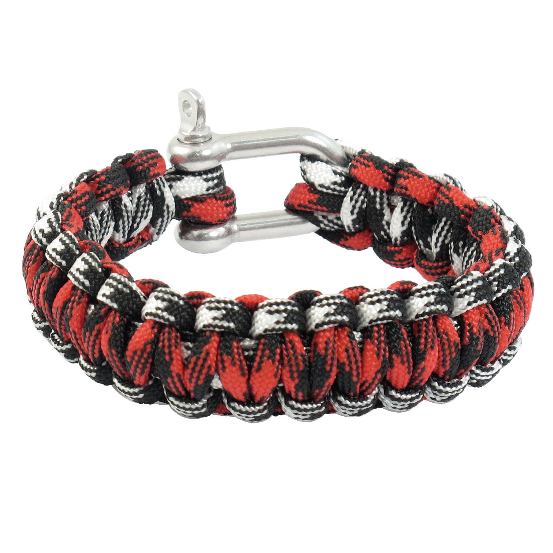 Outdoor Sports Stainless Steel Shackle Multi Color Survival Bracelet