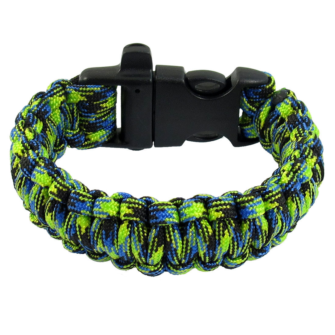 Whistle Desert Camo Plastic Buckle Colorful Survival Bracelet