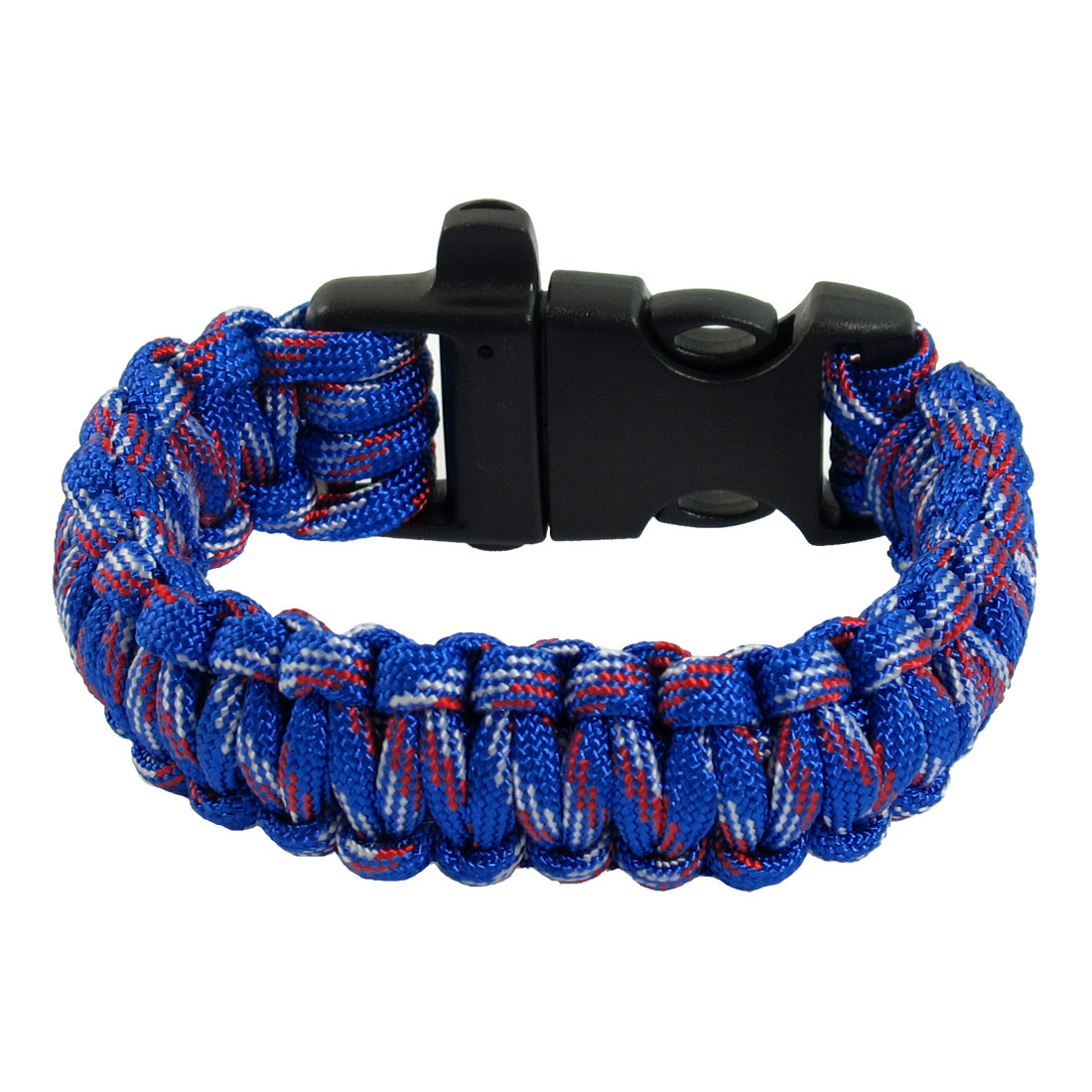 Plastic Quick Release Buckle Cobra Weave Multi Color Nylon Survival Bracelet