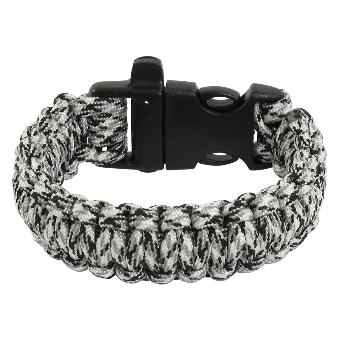 Whistle Desert Camo Plastic Quick Release Buckle Black White Survival Bracelet
