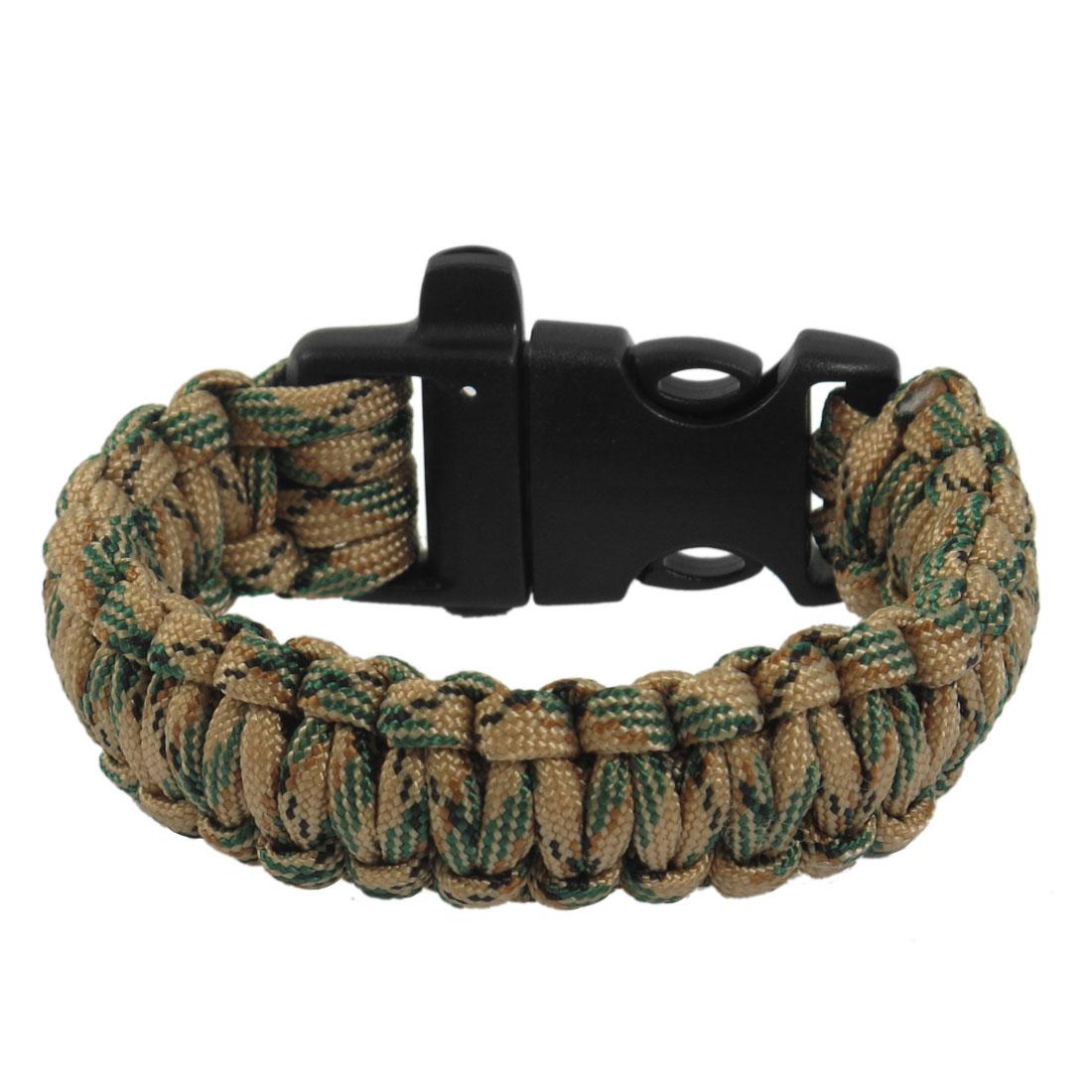 Plastic Buckle Whistle Decor Cobra Weave Colorful Survival Bracelet