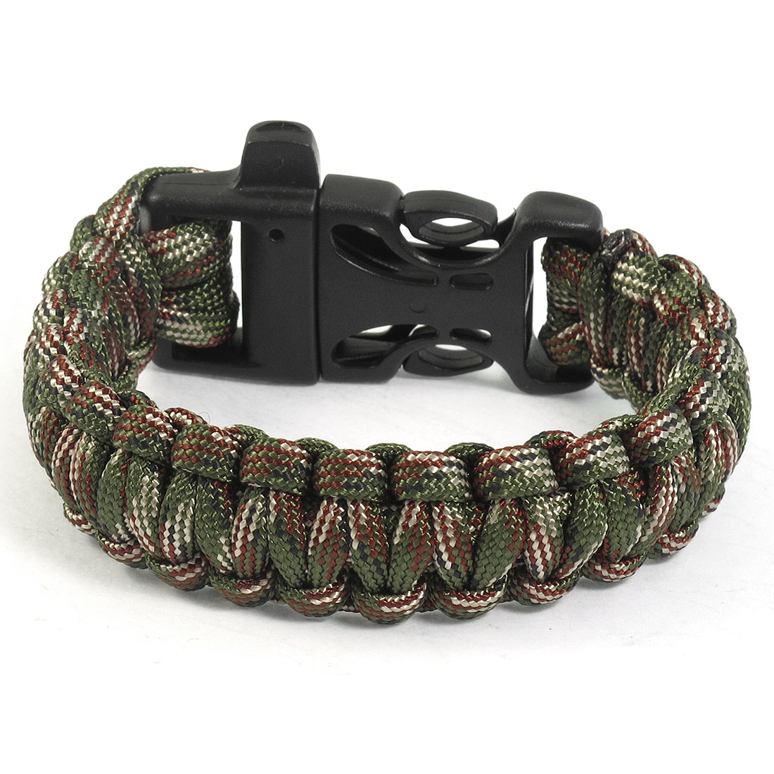 Practical Whistle Buckle Cobra Weave Nylon Assorted Color Survival Bracelet