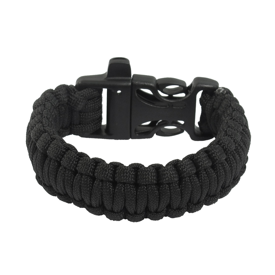 Daily Life Decor Plastic Buckle Cobra Weave Black Nylon Survival Bracelet