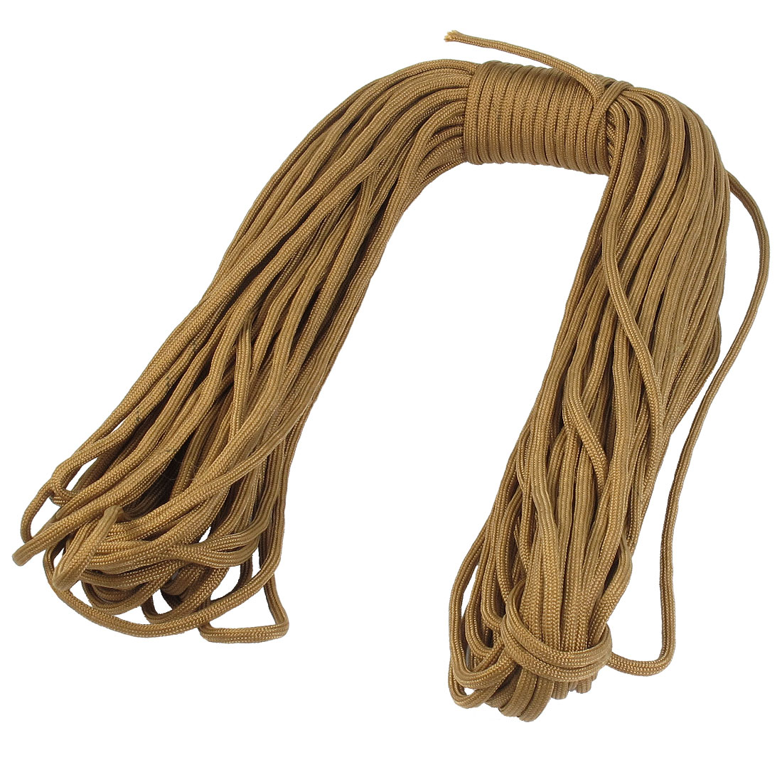 Practical Brown Textured Nylon Emergency Survival Rope 30.5 Meter