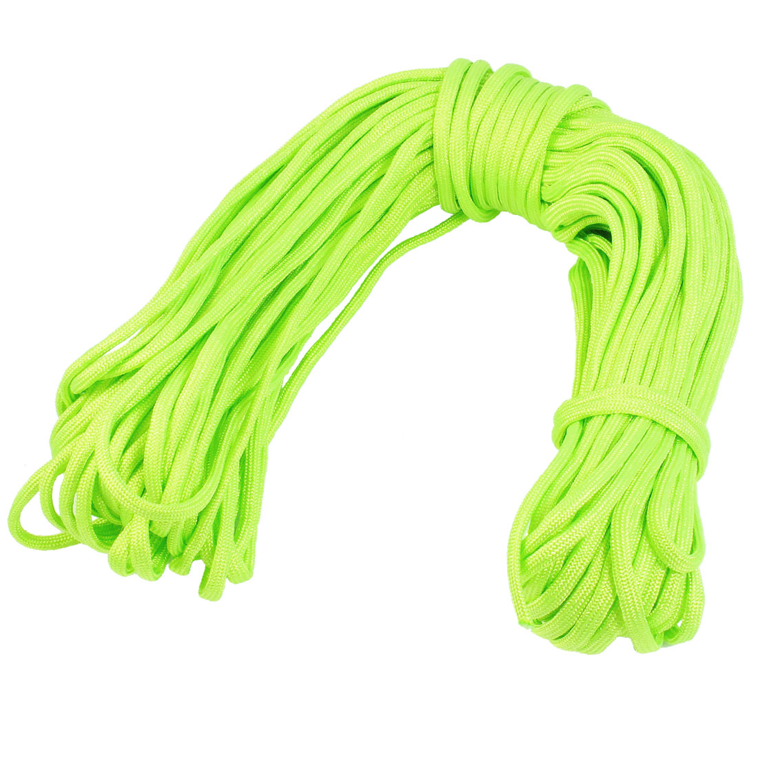 Outdoor Activites Practcial 4mm Dia Bright Green Nylon Survival String 100Ft