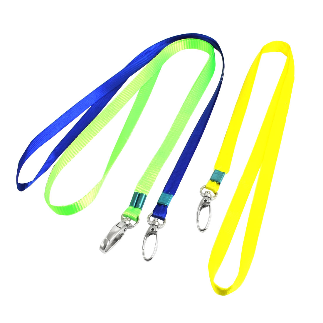"Nylon Neck Strap Key Stripe Card Holder Lanyard String 16.1"" Length 3 Pcs"