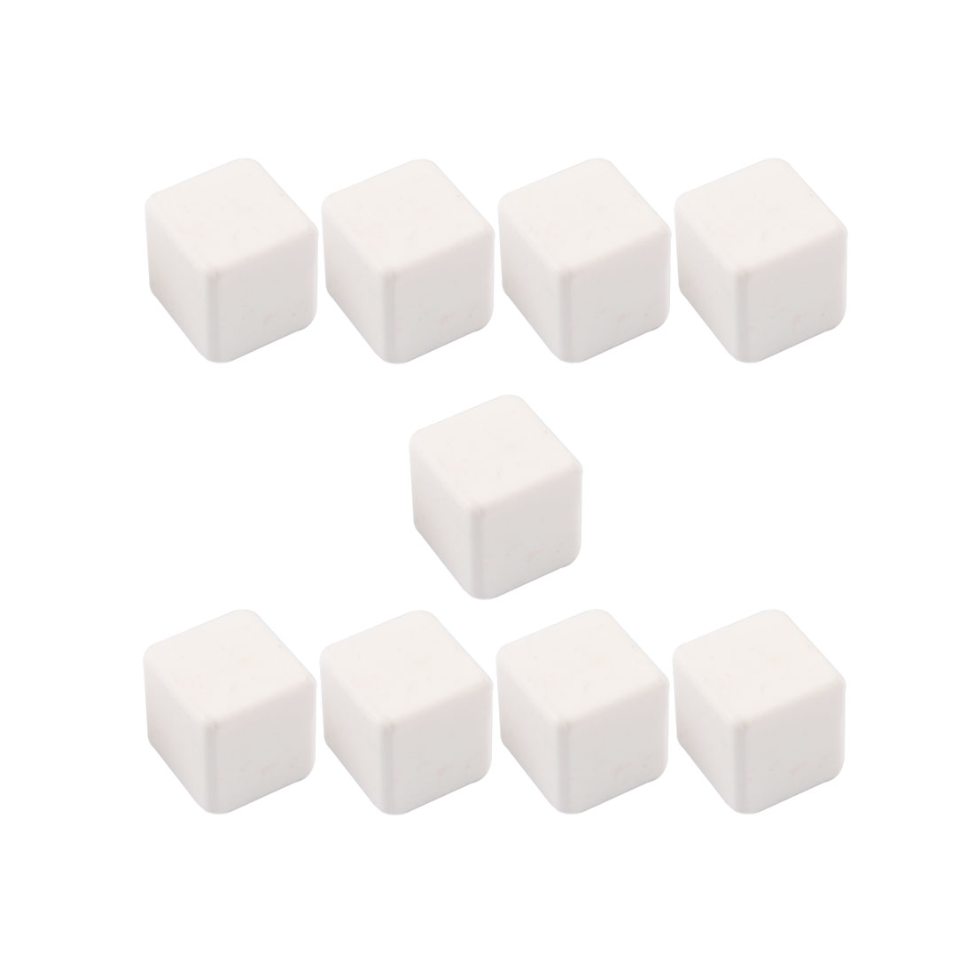 Ceramic Whisky Stones Ice Cube Drawstring Pouch Holder White 20mm x 20mm x 18mm 9 Pcs