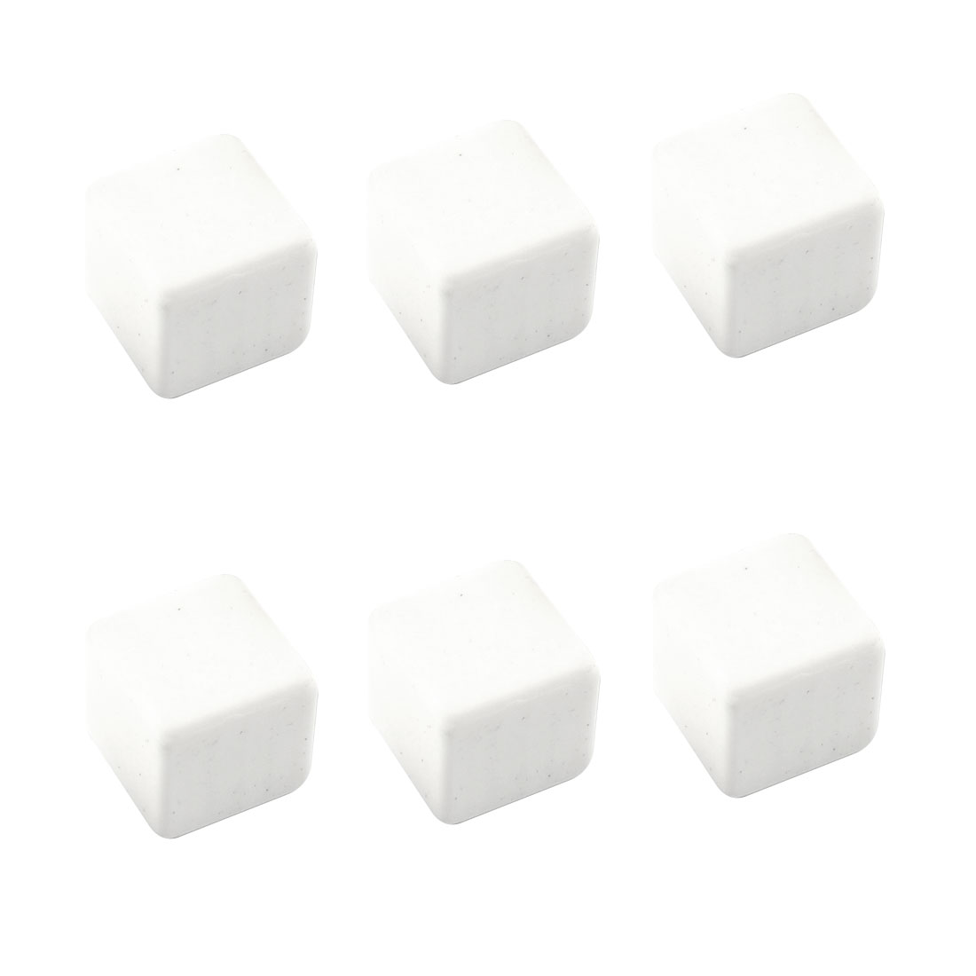 6 in 1 White Ceramic Ice Cube Whisky Scotch Chilling Stones w Drawstring Pouch