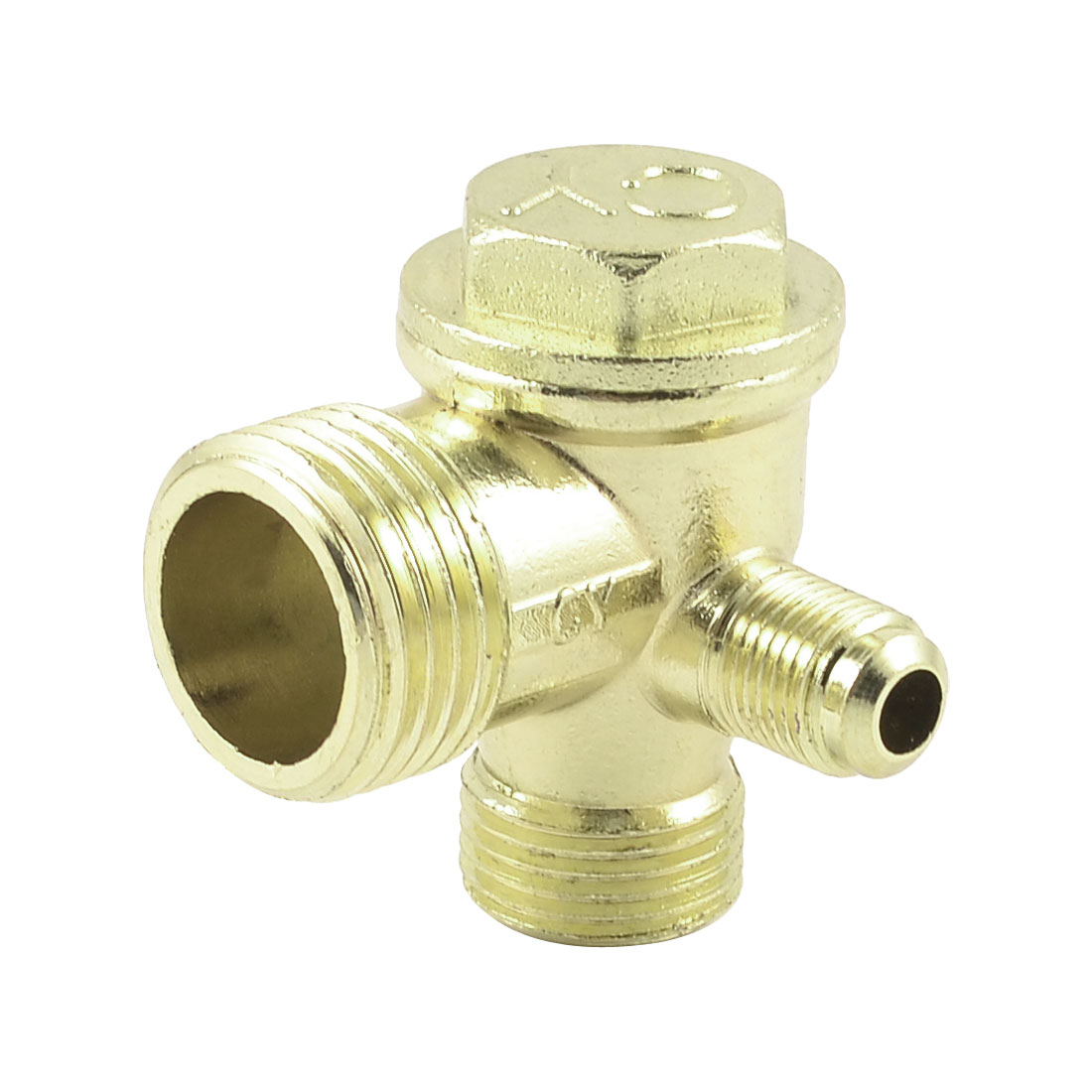 Brass 21mm 16mm 10mm Male Thread Tube Connector Air Compressor Check Valve