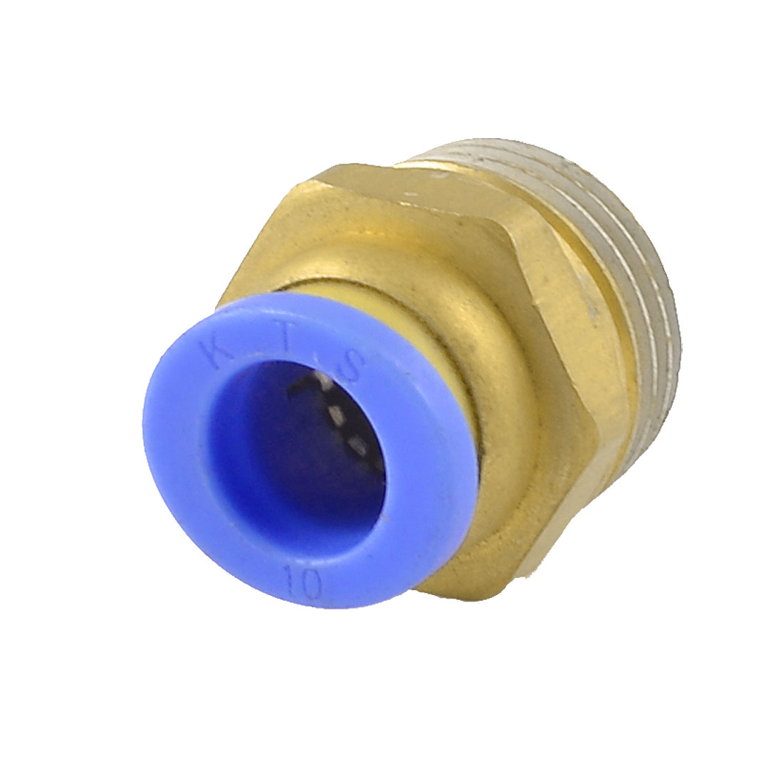 "10mm x 1/2"" PT Thread Air Pneumatic Tube Push in Straight Quick Connector Joint"