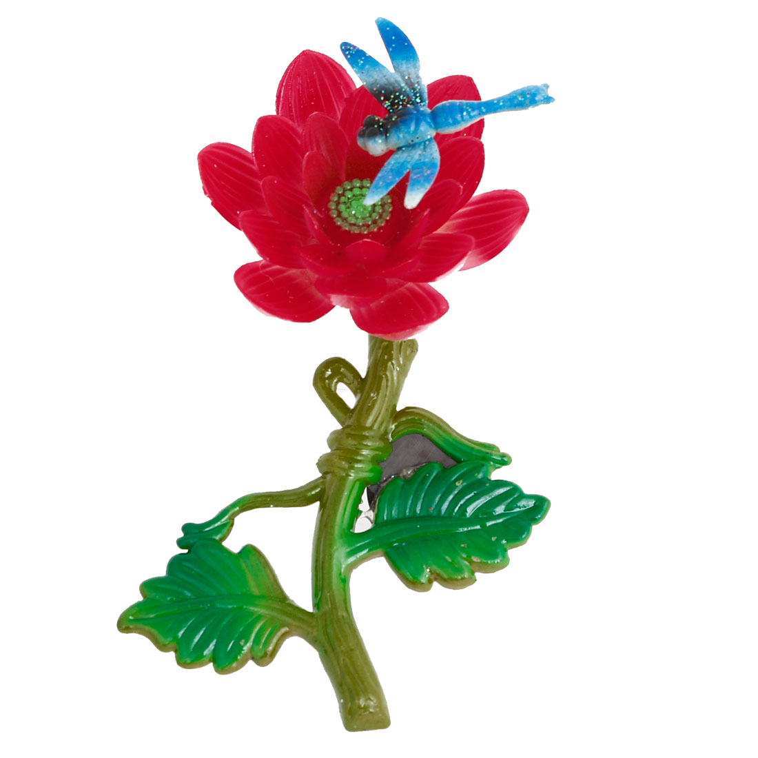Red Plastic Dragonfly Decor Flower Fridge Magnet