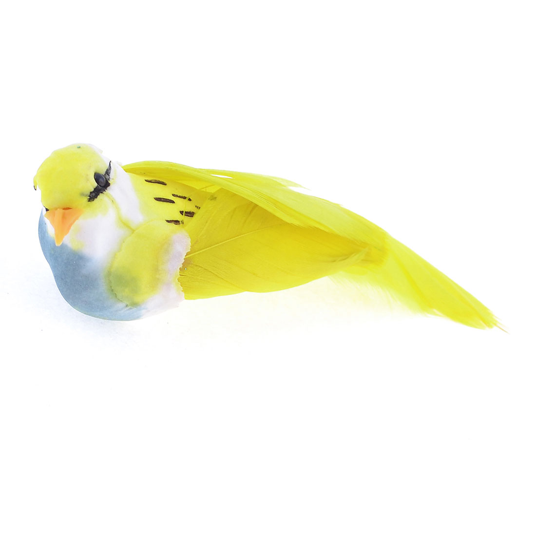Foam Magnetic Body Fake Feathers Artificial Bird Toy Yellow