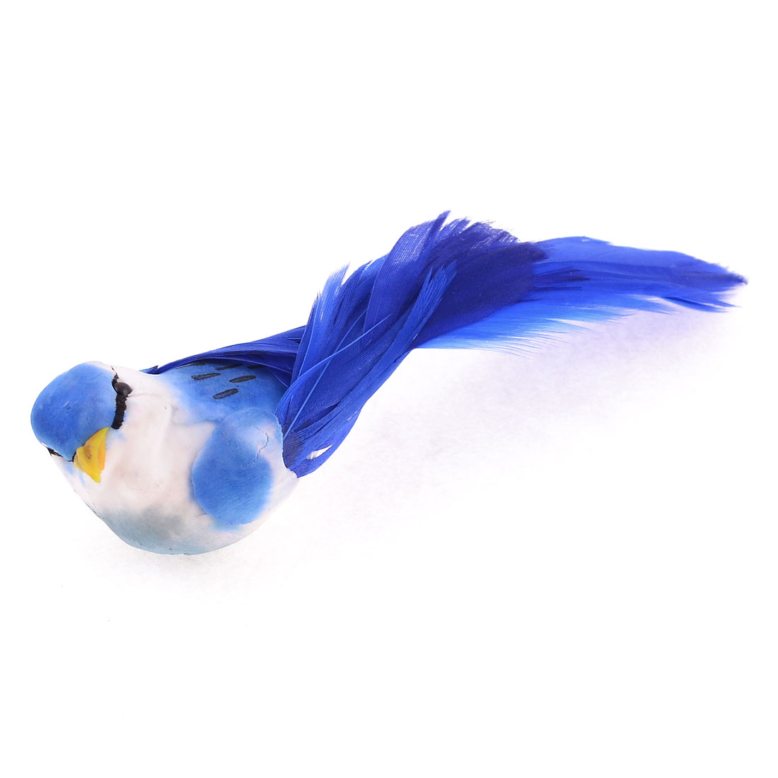 Foam Magnetic Body Plastic Mouth Faux Feathers Manmade Bird Toy Blue