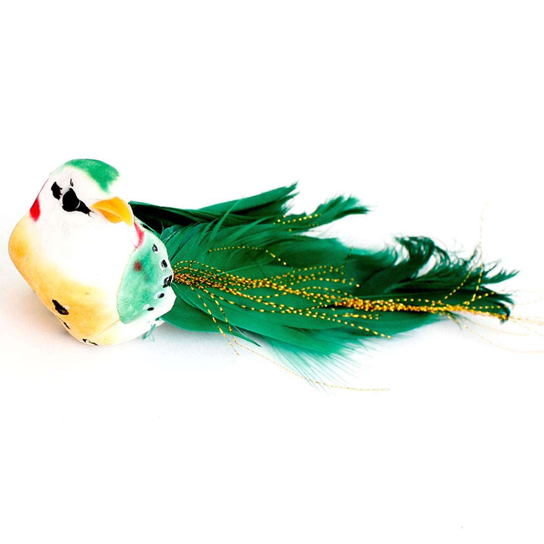 Green Glitter Metallic Thread Decoration Imitation Bird Toy