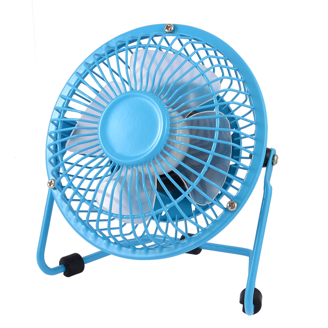 "Home Office Cooling Cool Metal Shell Desk USB Mini Fan 4"" Sky Blue"