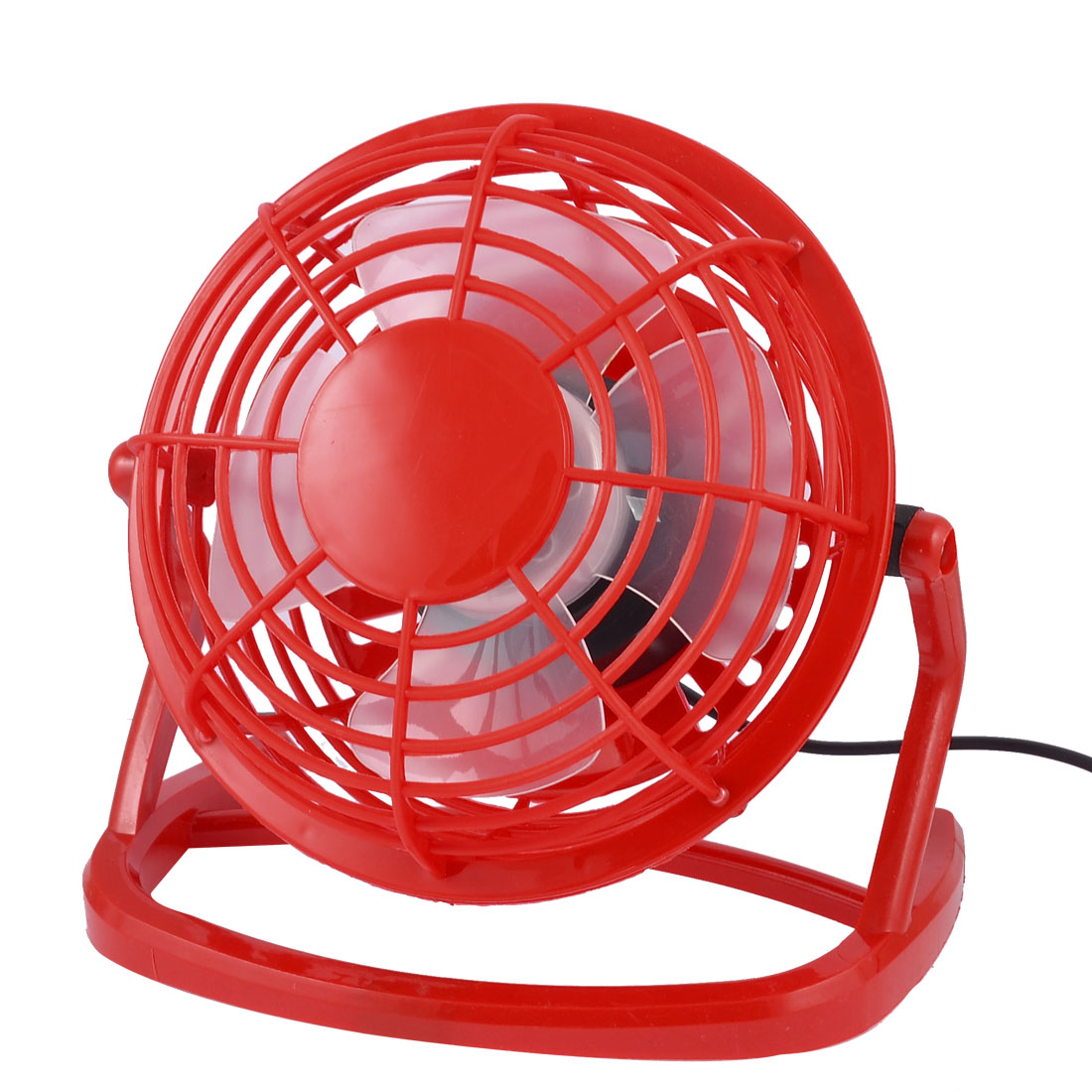 "4"" Portable Plastic Housing Notebook Copmuter Cool Cooler Mini USB Desk Fan Red"