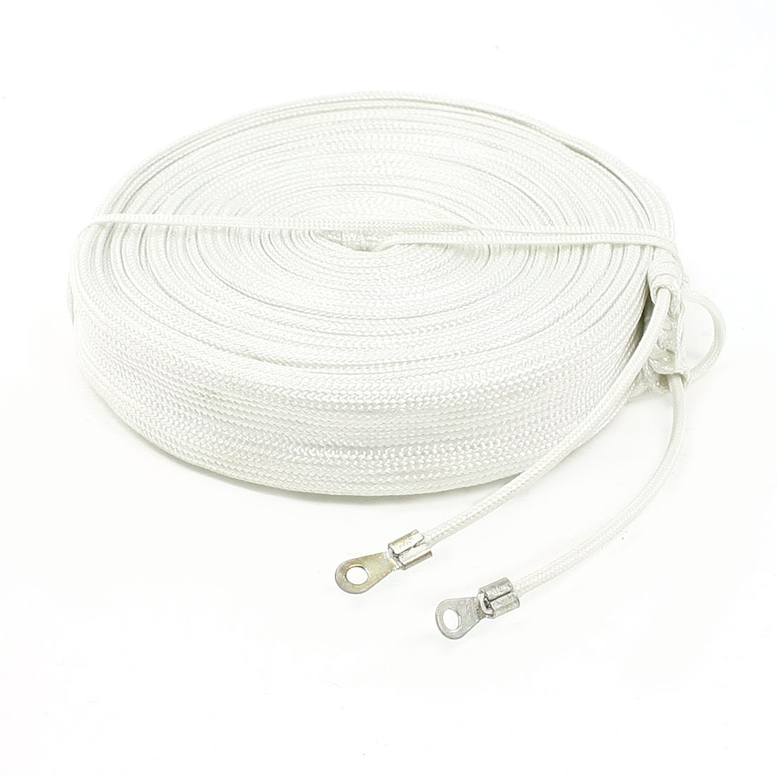 220V 400W 4M Length Insulated High Temperature Resistant Glass Fiber Band White
