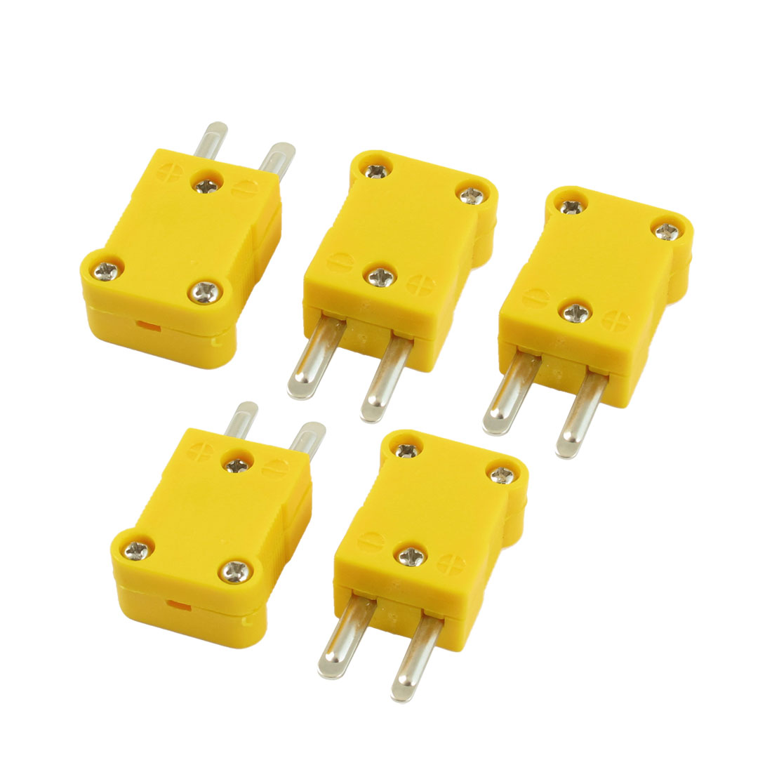 5 Pcs Yellow Plastic Case SMPW-K-M K Type Thermocouple Wire Connector