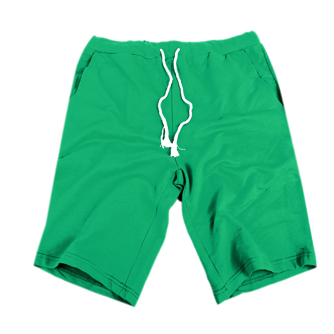 Man Medium Green Stylish Mid Rise Korean Style Short Pants W29