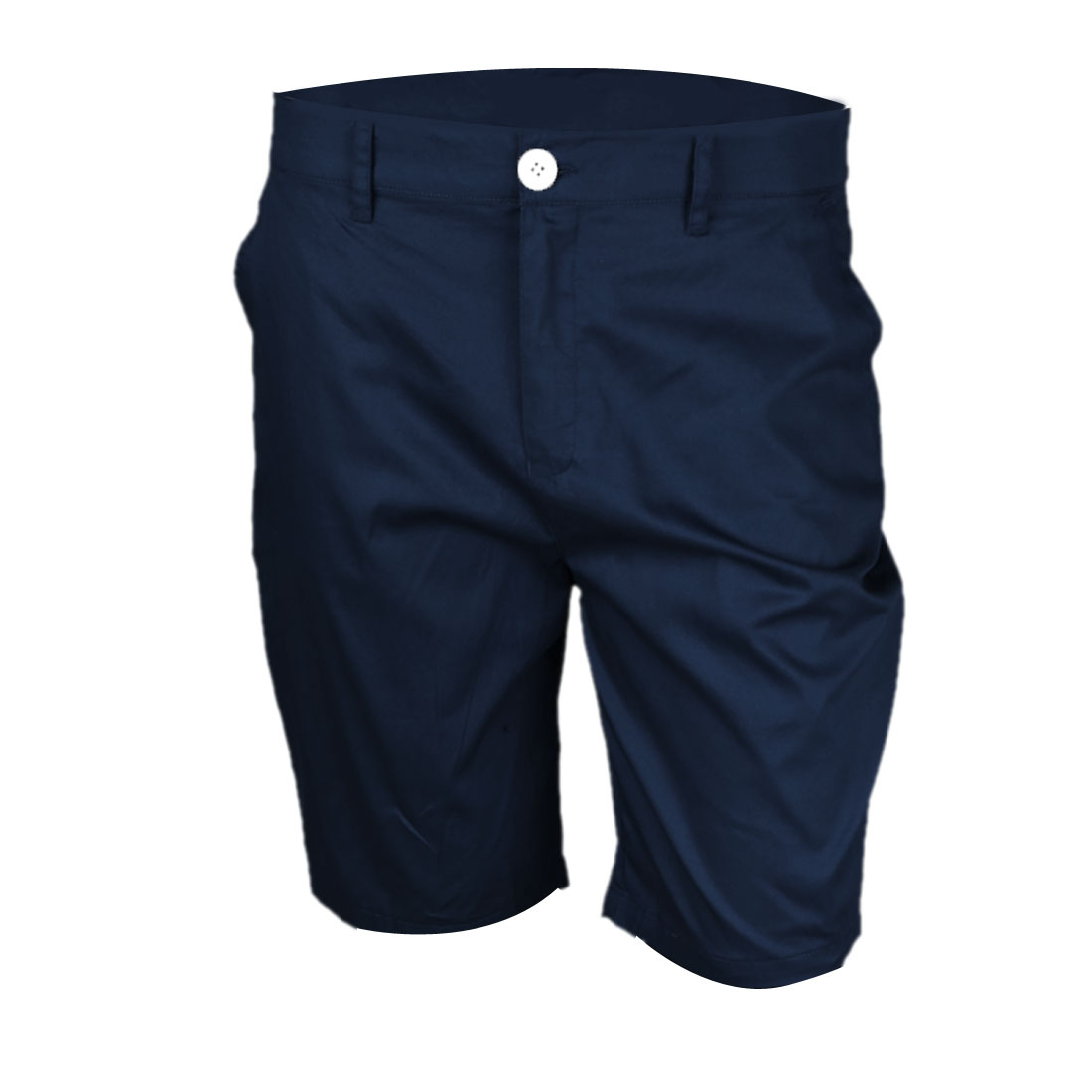 Mens Navy Blue Two Pockets Front Easy Matching Short Pants W34