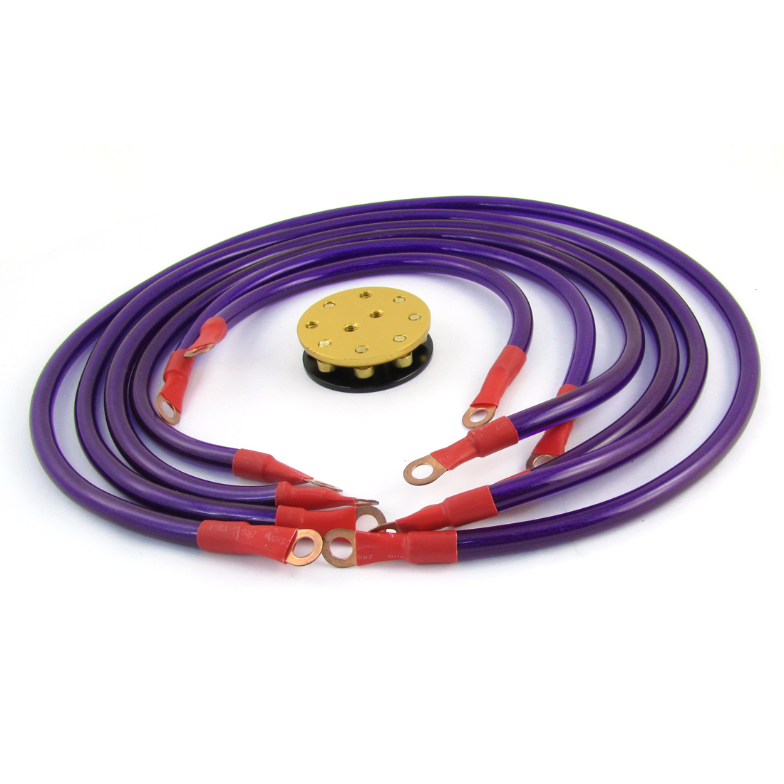 6 x Replacement Ground Wires Cables Kit Purple for Vehicle Car