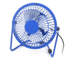 Sky Blue Metal Case Aluminum Flabellum 360 Degree Rotation PC Desktop Cooler Mini USB Fan 4""