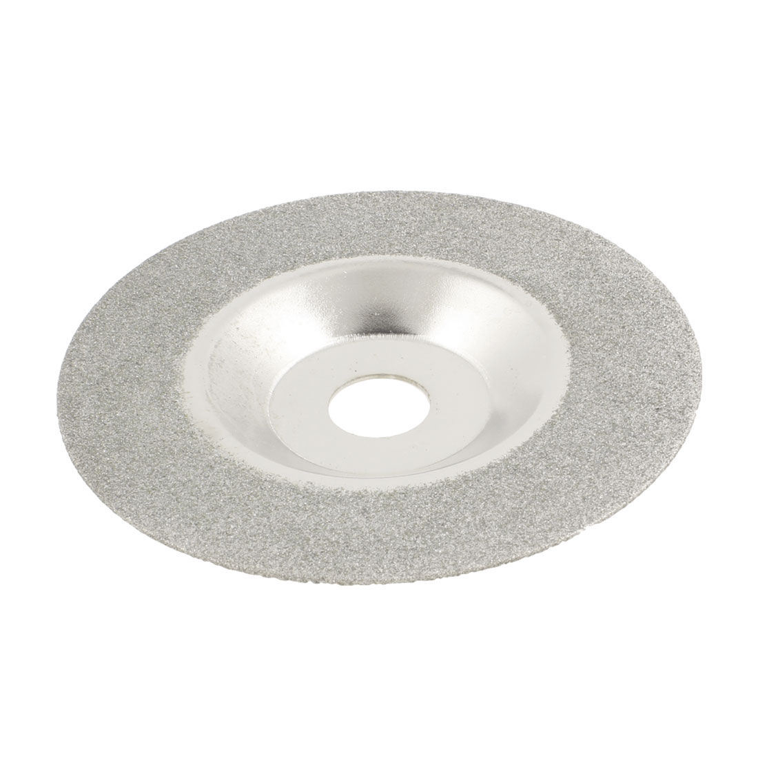 Diamond Saw Slice Grinding Cup Wheel 100mm x 15mm x 1.2mm Silver Tone