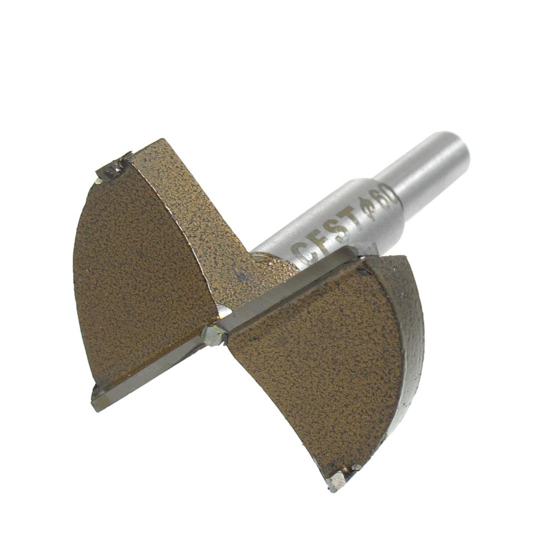 Silver Tone Shank 60mm Drilling Hinge Boring Bit Carpentry Tool