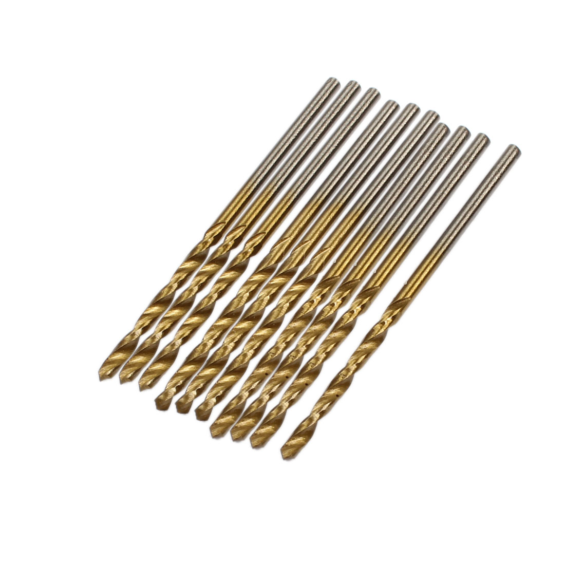10 Pieces 48mm Length 2mm Diameter Twist Drill Bit with Straight Shank