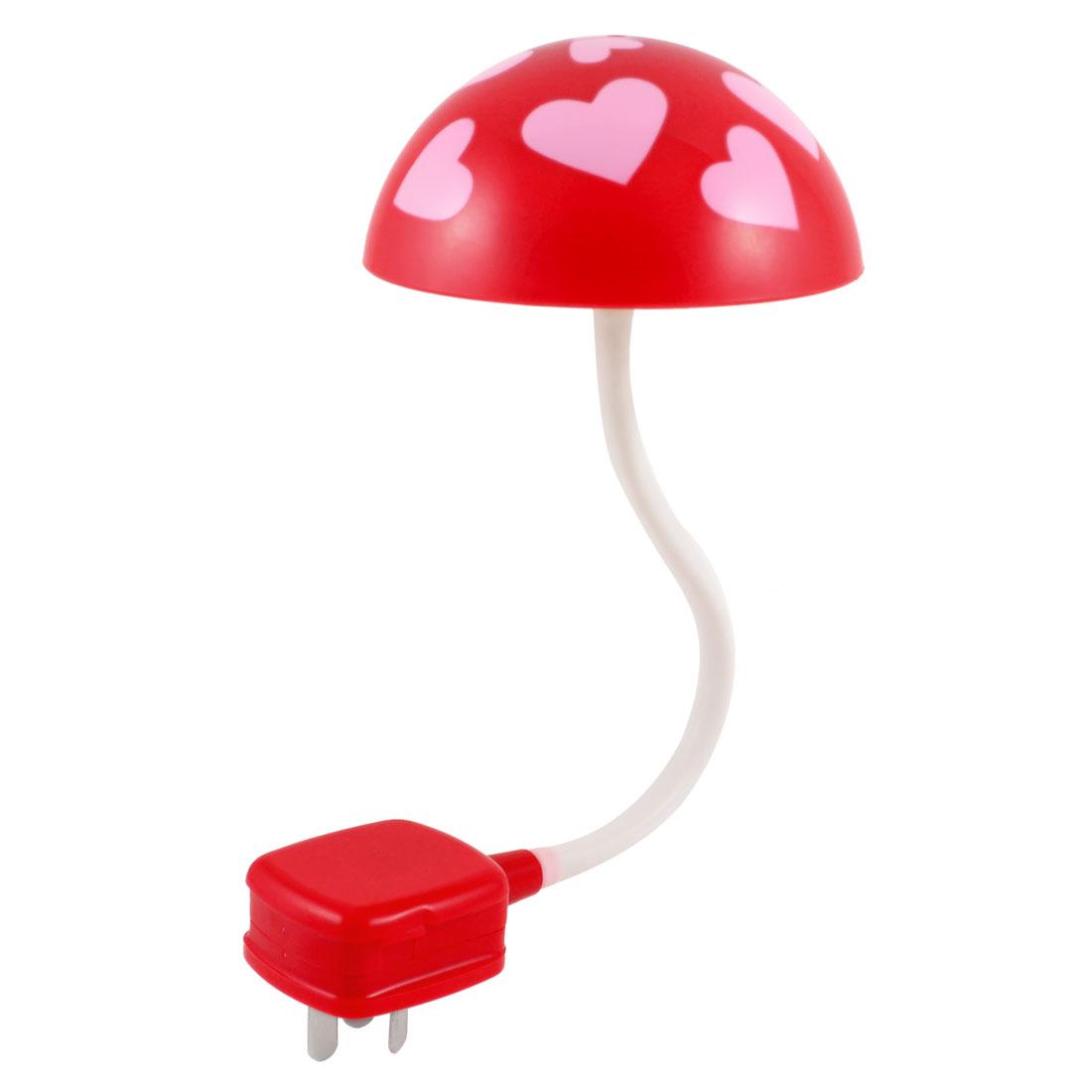 AU Plug AC 250V Plastic White LEDs Mushroom Night Lamp Light
