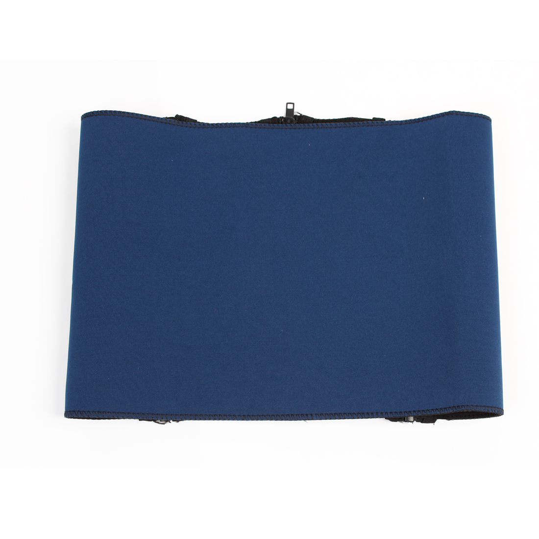 Unisex Blue Black Neoprene Zip Up Body Slimming Shaping Waist Support Wrap