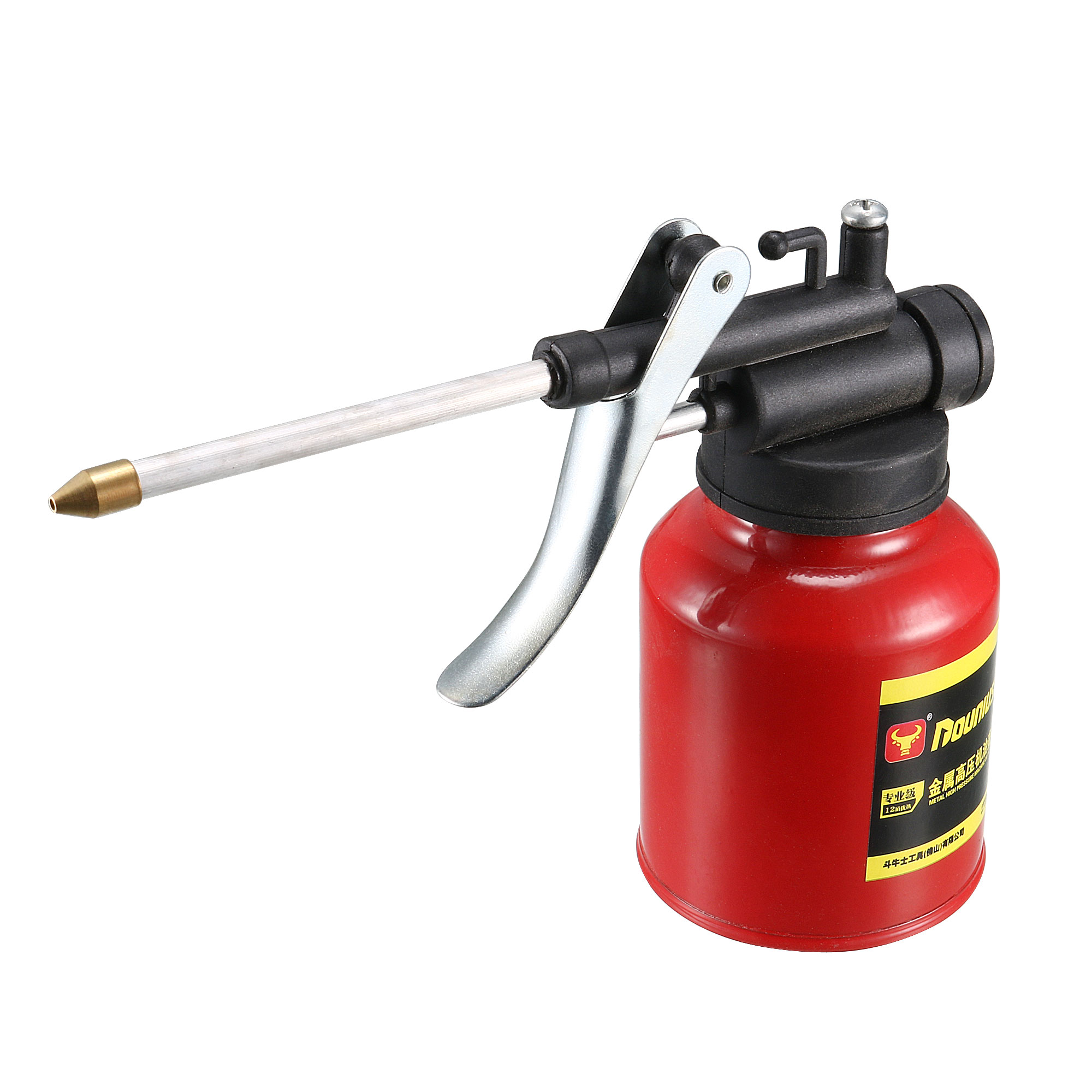 Pneumatic Red Metal Bottle High Pressure Feed Oil Gun