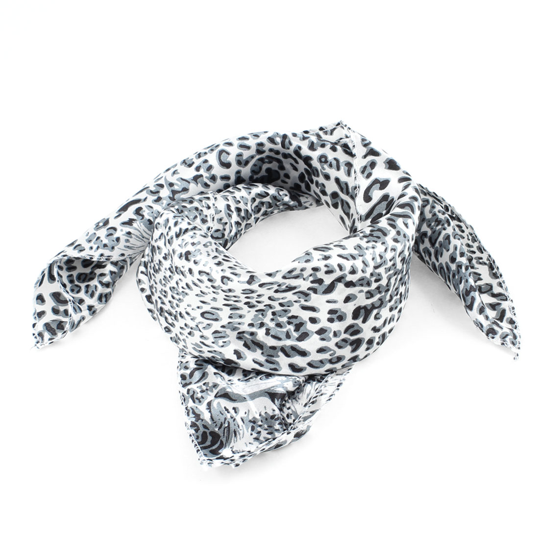 Airhostess Leopard Print Polyester Magic Scarf Wrap Neckerchief