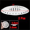 Kitchen 8cm Diameter White Plastic Sink Strainer Drain Stopper 2pcs