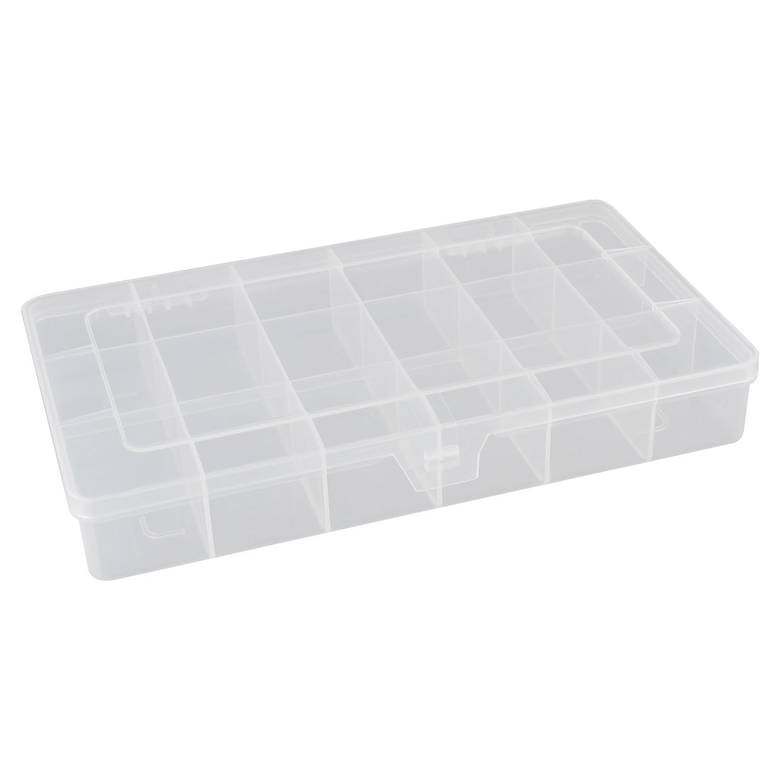18 Components Earrings Jewelry Organizer Storage Box Holder Clear