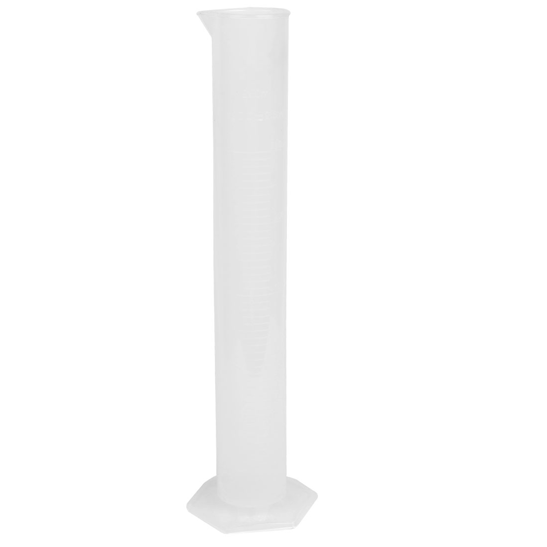 250mL Capacity Liquid Measurement Tool Clear White Graduated Cylinder