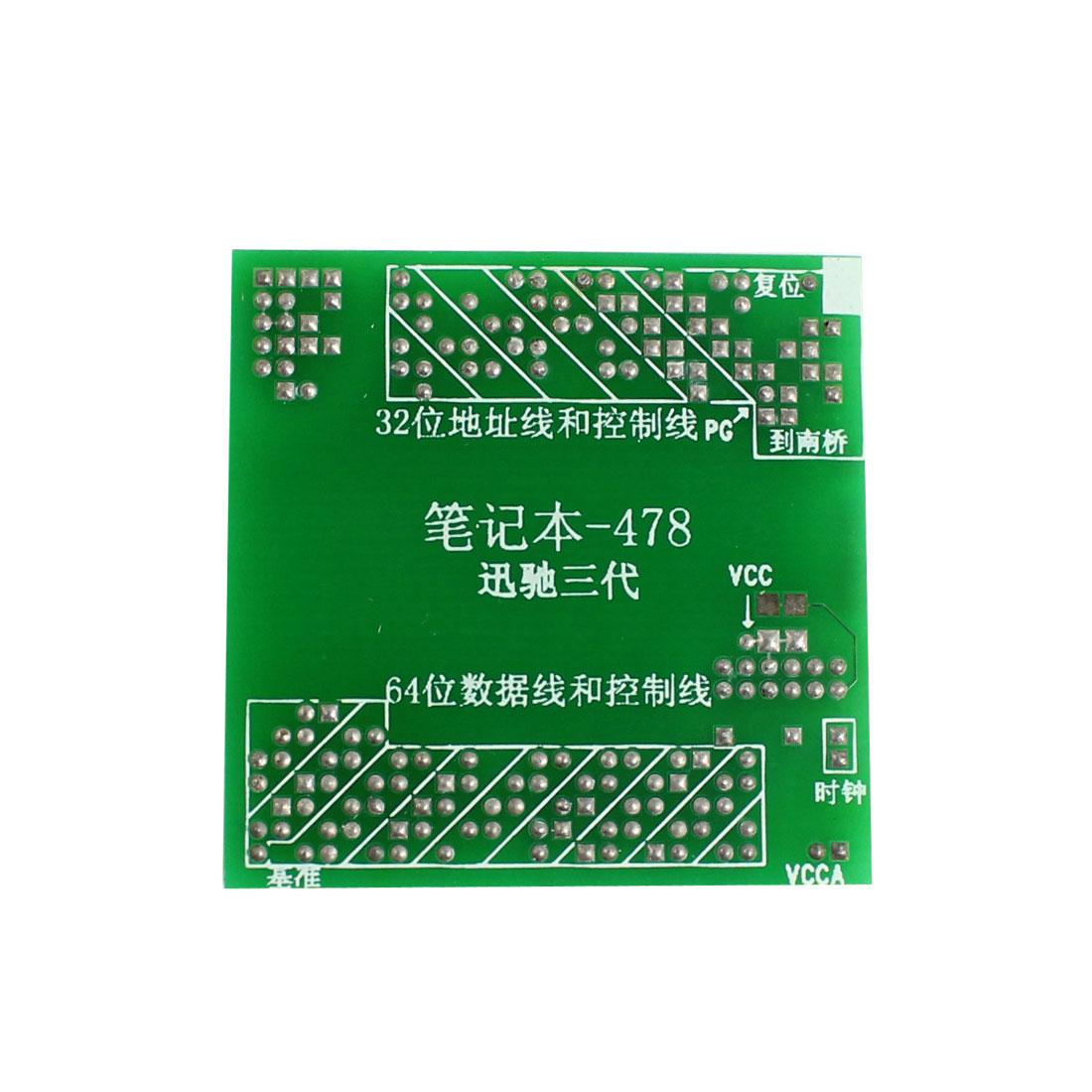 Laptop Notebook 478 CPU Socket Tester Repair Tools Centrino Three Generations