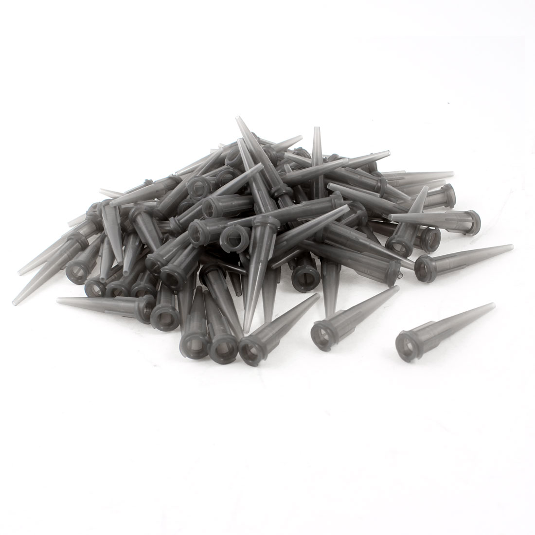 100 Pcs Gray Plastic Tapered Pinhead Glue Liquid Dispenser Needles 16GA