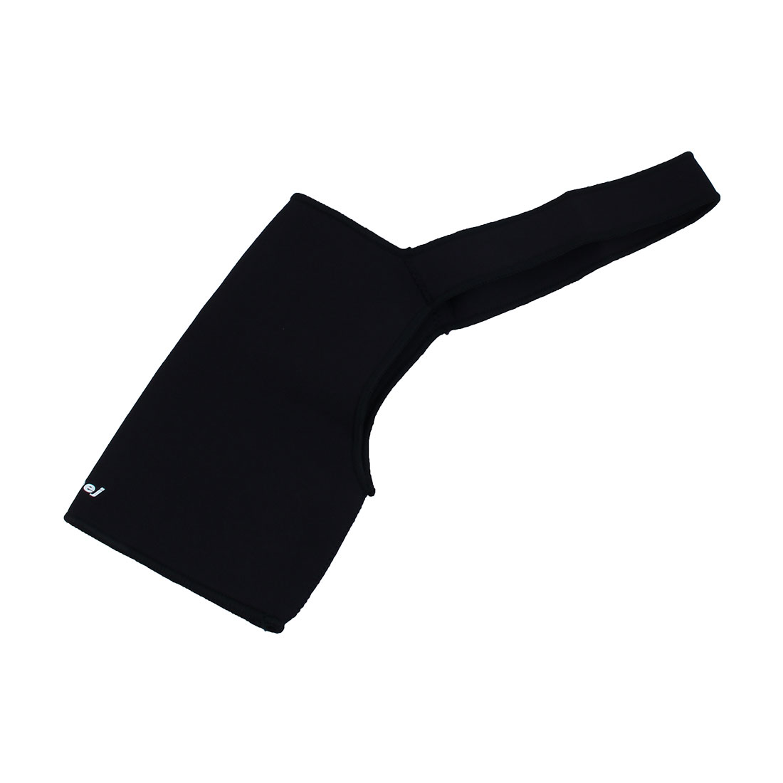 Men Black Fabric Single Shoulder Stretchy Shoulder Support Brace