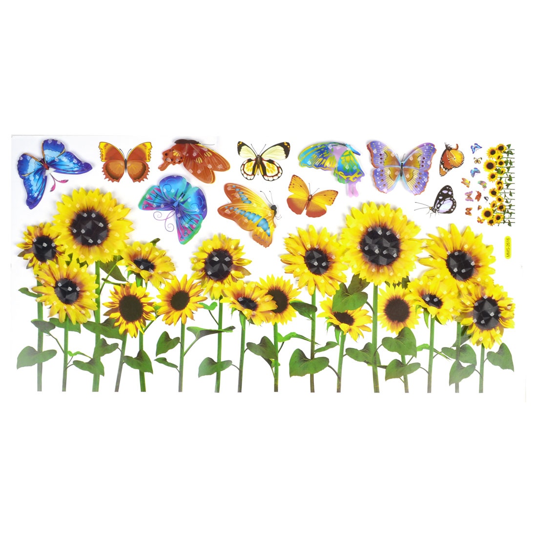 Room Decor Embellishment Art 3D Sunflower Butterfly Wall Sticker