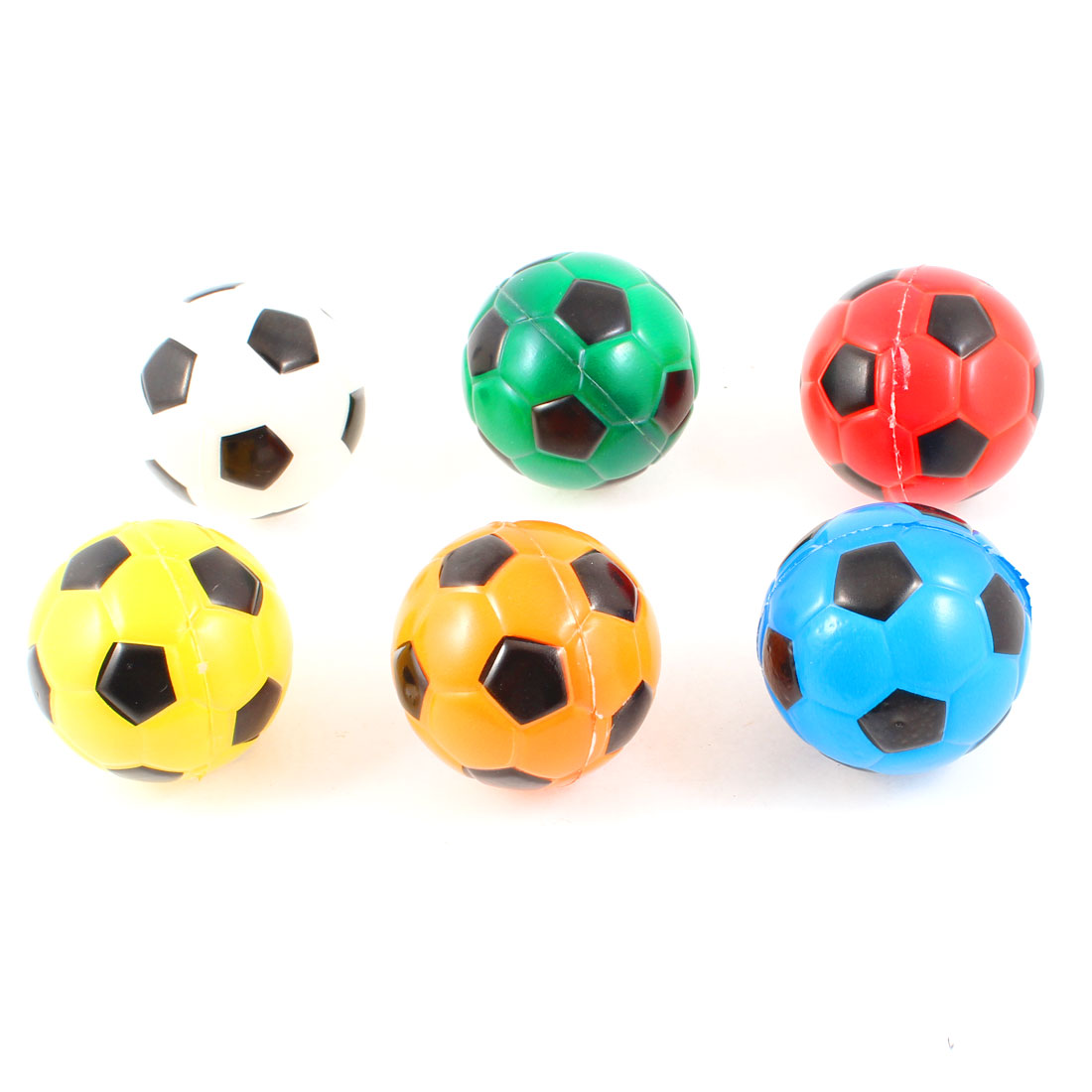 6 Pcs Colorful Squeeze Toss Foam Stress Footballs for Children
