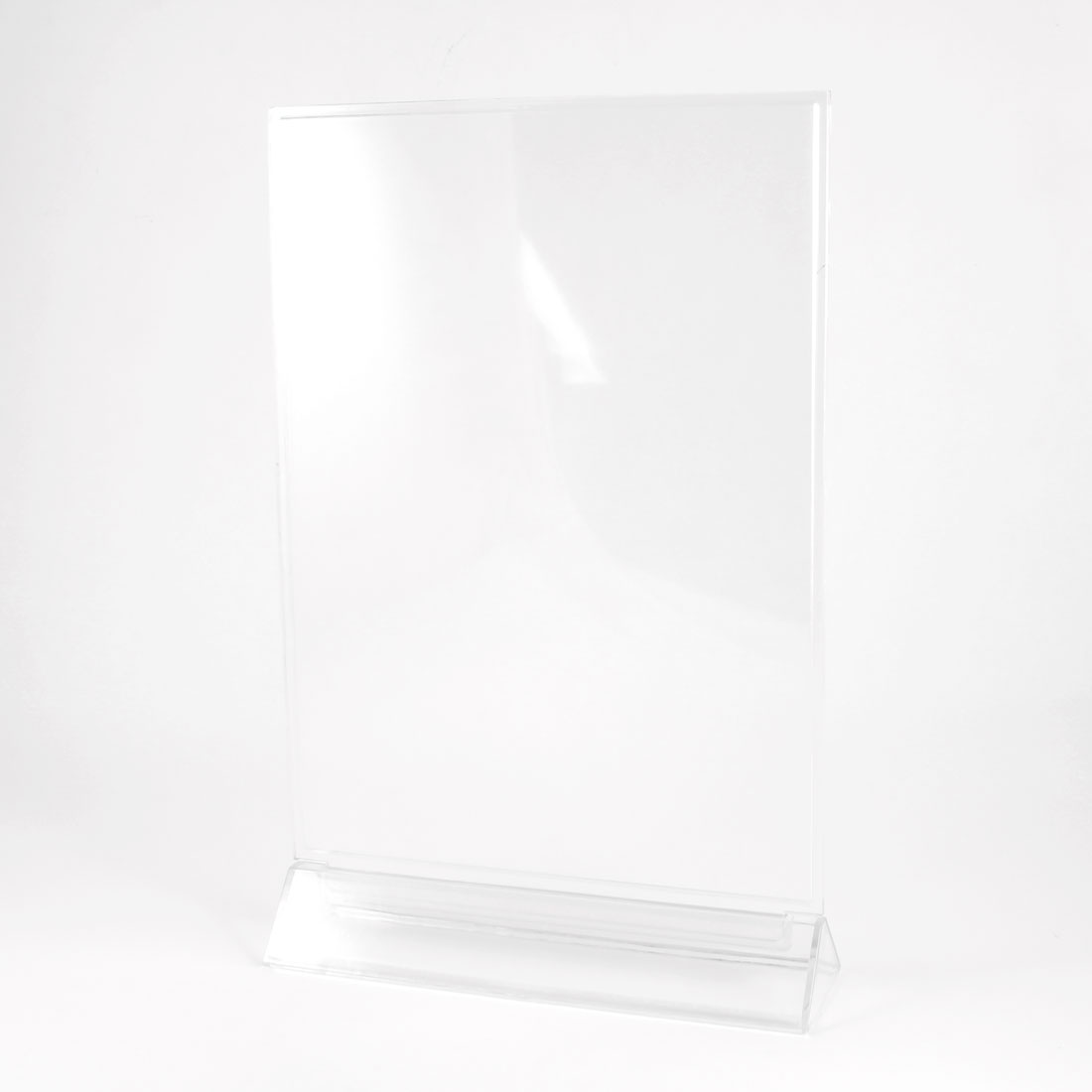 Clear Plastic Triangle Base Table A4 Paper Menu Stand