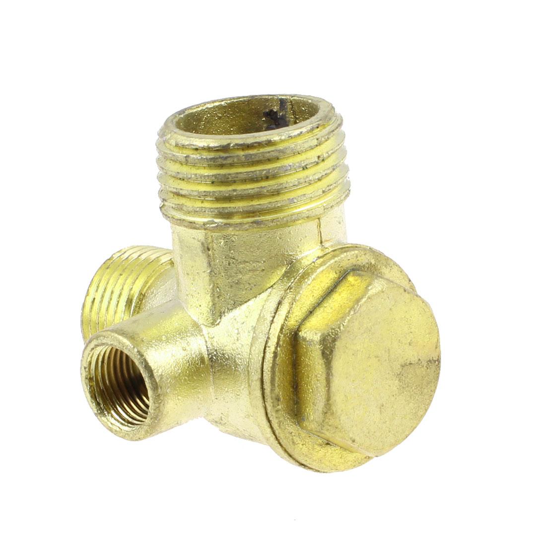 "1/8"" 3/8"" 1/2"" Thread Brass Air Compressor Check Valve Gold Tone"
